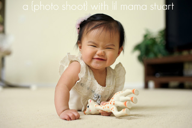 Squishy Face : a {day} with lil mama stuart: {Sophie} - 7 months