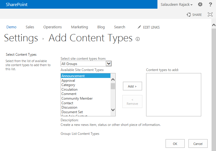 sharepoint 20130 powershell add content type to list