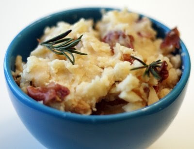 Slow Cooker Rosemary Garlic Mashed Potatoes from Coconut and Lime featured on SlowCookerFromScratch.com