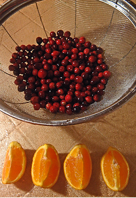 Whole Cranberries and Quartered Orange