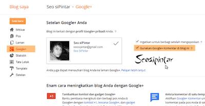 Cara Memasang Komentar Google Plus di Blog