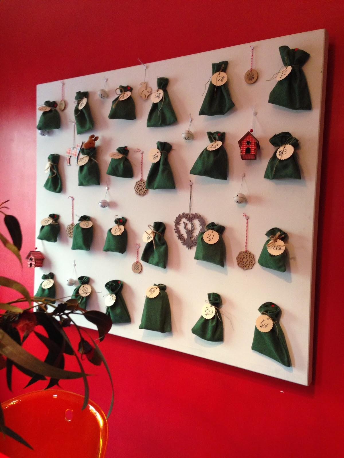 Olga belichenco crafts el calendario de adviento for Calendario de adviento casero