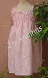 Vestido Praia Cor de Rosa c/ Flores Brancas