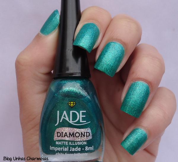 esmalte, esmaltes, esmalte Imperial Jade, Jade, unhas, esmalte verde, esmalte Imperial Jade da Jade, esmalte fosco brilhante, matte illusion, coleção joias líquidas da Jade, esmalte bonito, loja Missy Cosméticos, blog unhas charmosas, unhas charmosas, esmalte matte,