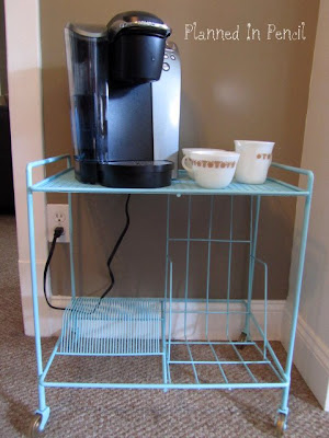 Record Cart Turned Coffee Cart