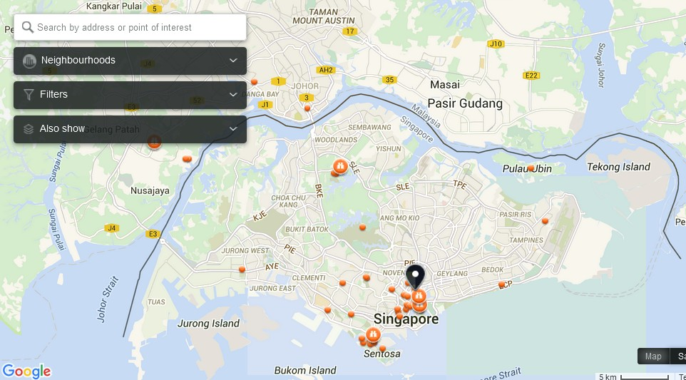 The Dive Company Singapore Map Tourist Attractions in Singapore – Pennsylvania Tourist Attractions Map