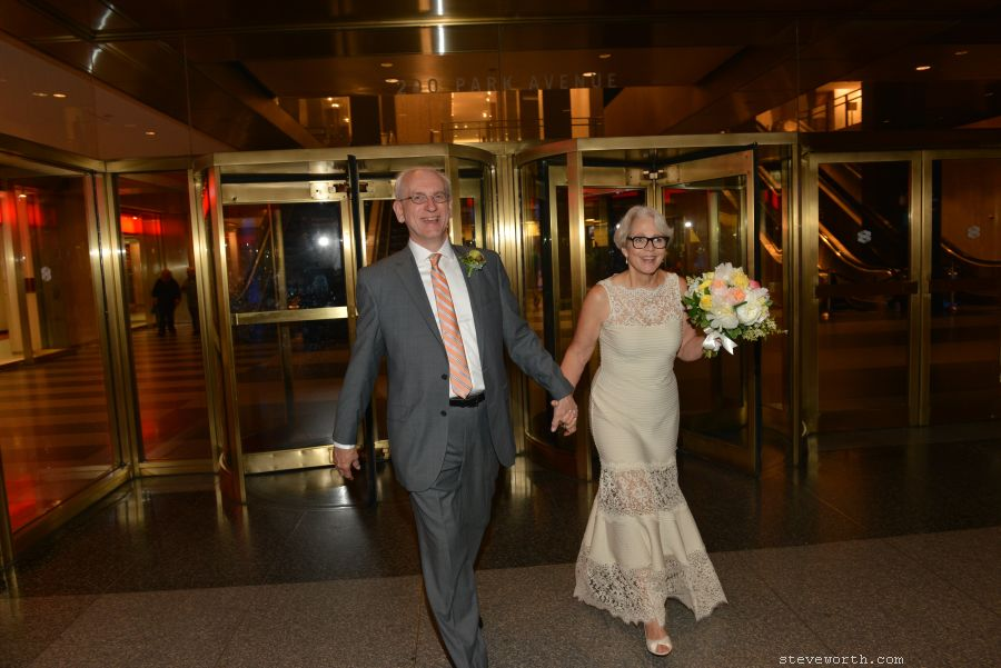 Entering Grand Central - Newlywed Couple