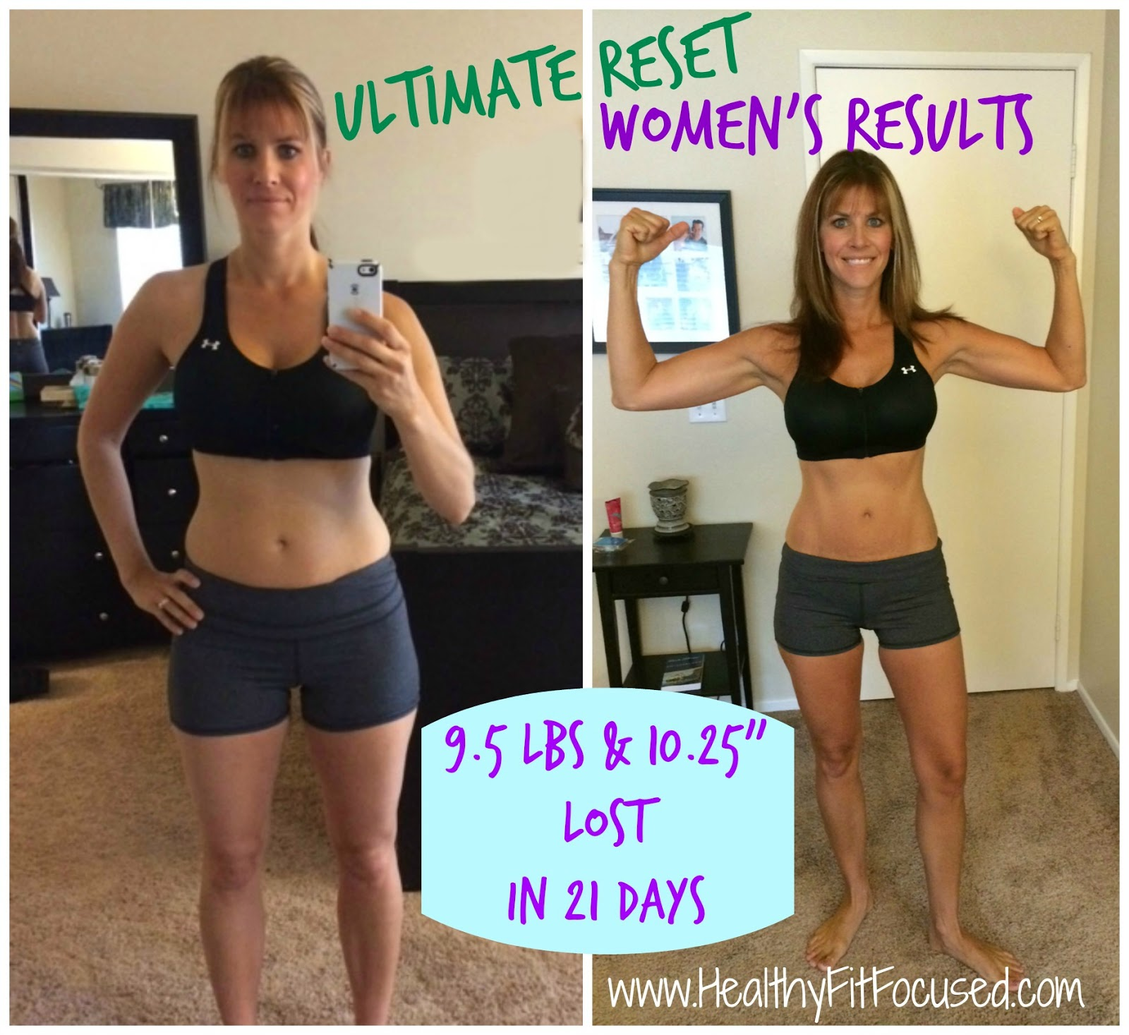 Ultimate Reset Women's Results, women's transformation