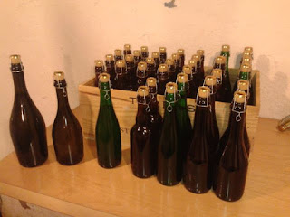 Bottled cider keeve.