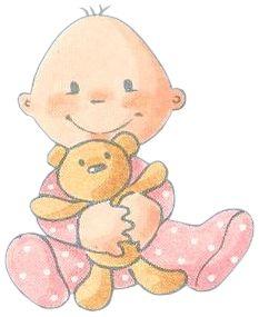 Desenho de bebê colorido