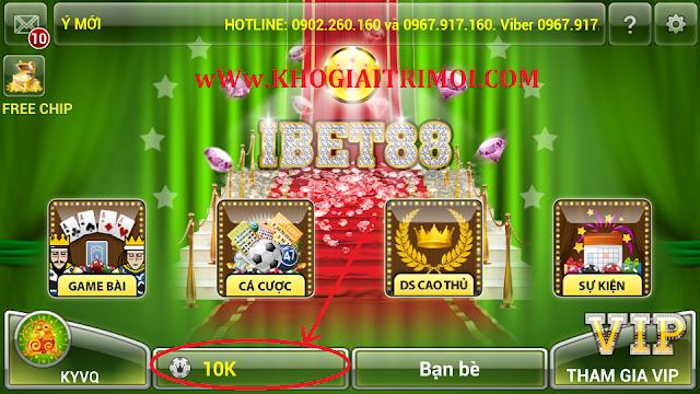 Hướng dẫn nạp Chip trong game bài iBet88