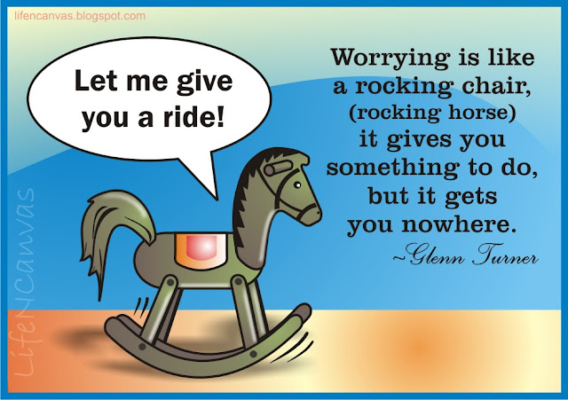 worry is rocking chair horse life canvas