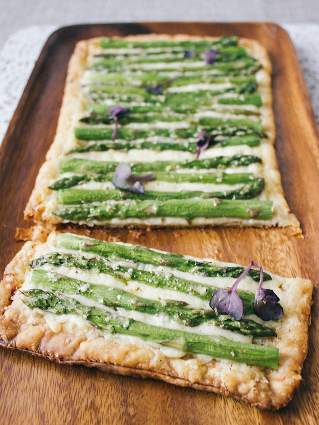 Asparagus Tart With Gruyere Recipe — Dishmaps