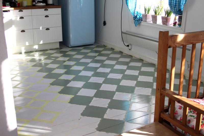 Keittiön laattalattian maalaus – Koti ja keittiö