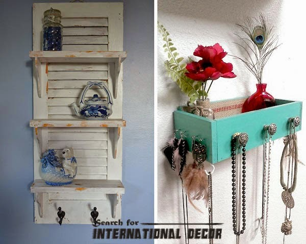 Creative recycle ideas, recycle ideas, recycled shelves,drawers