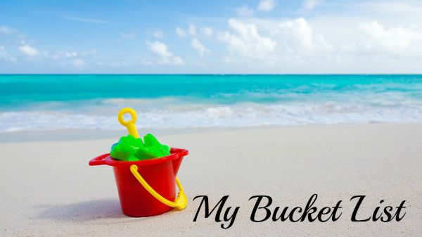 Bucket on a beach