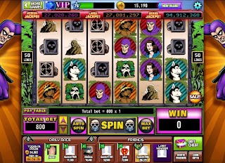 Screen of The Phantom Hit It Rich! Casino Slots game after first bet