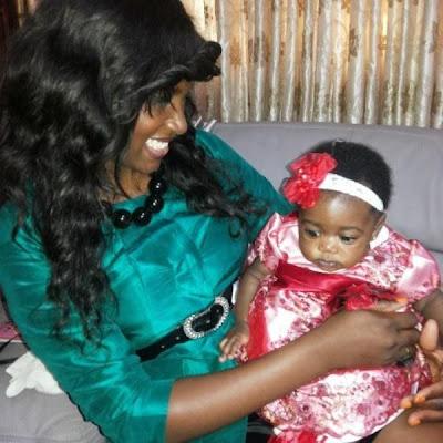 ufuoma ejenobor holding mercy johnson baby