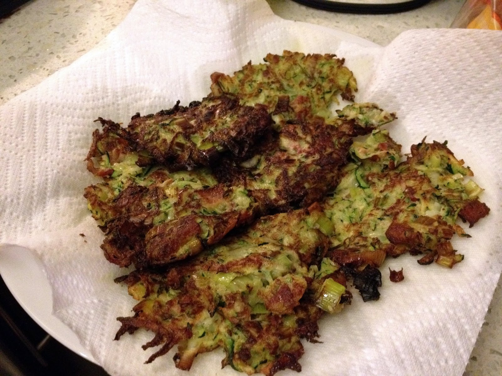 the zucchini latkes turned out a bit flimsy in consistency