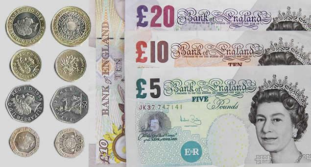 Dinheiro da Inglaterra - Libra
