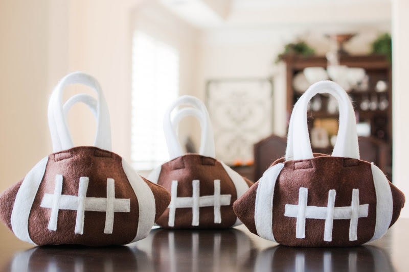 I Made Them These Cute Little Football Purses To Collect Treats In Up The Template As Went So Don T Have Step By Instructions