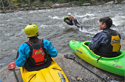 Chris Baer tubing, upper gauley, WV, Jessica Marsan, silly kayakers