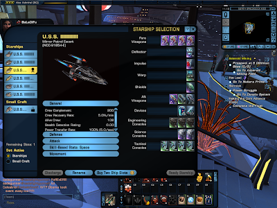 Star Trek Online - Starship Selection Window