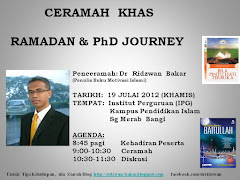 Ceramah: Ramadan and PhD Journey
