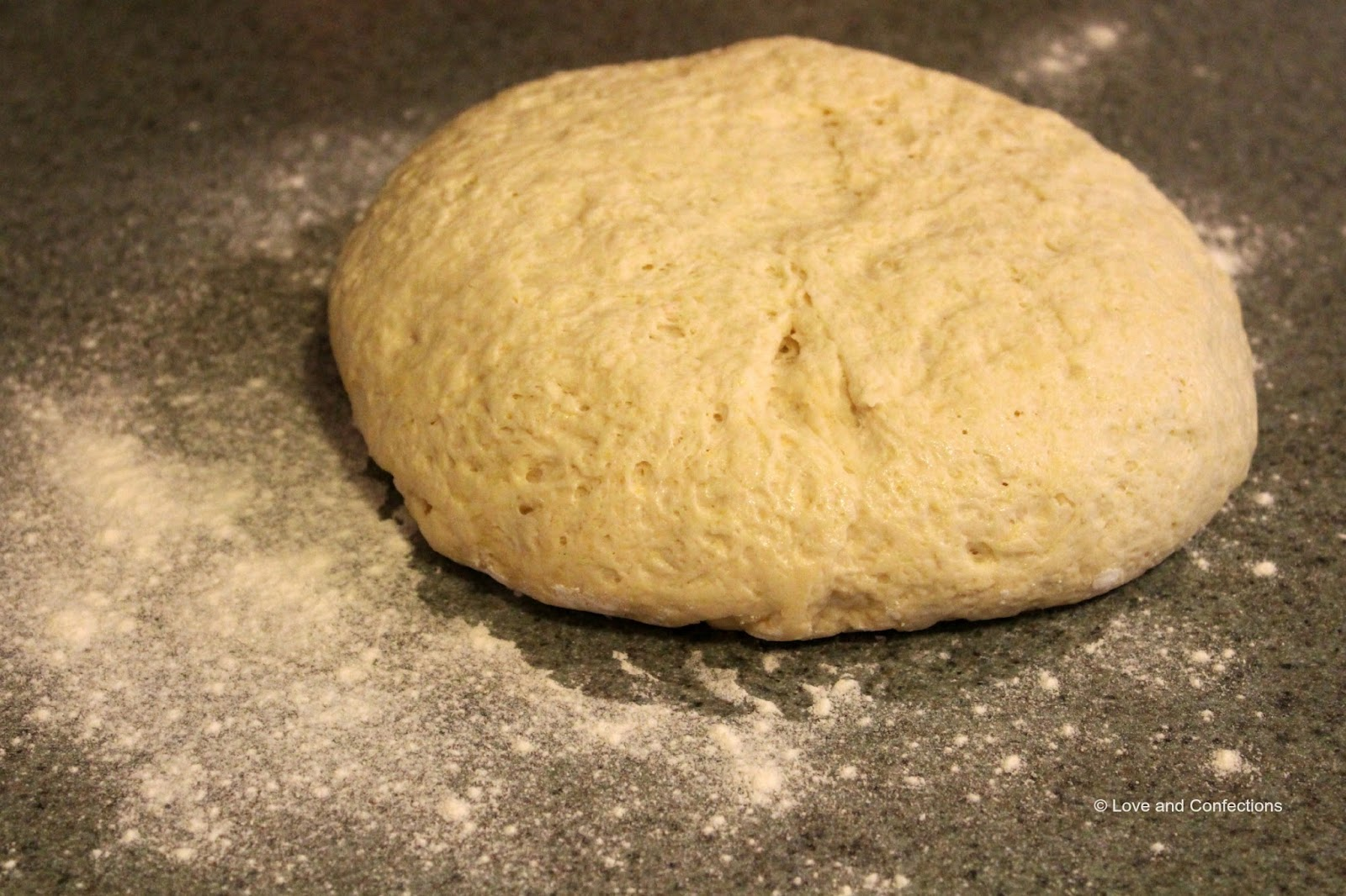Homemade Pizza Dough by Love and Confections - easy to make and perfect for any night of the week
