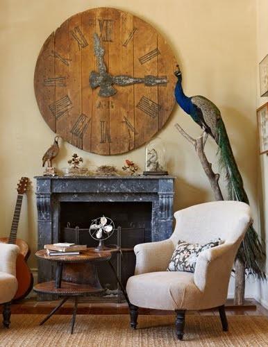 Estilo rustico relojes antiguos en interiores rusticos for Interiores rusticos