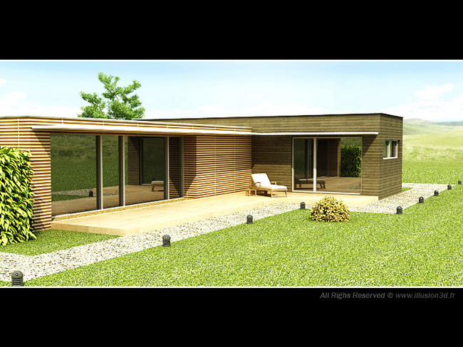 Plan maison architecte moderne 3d for Plans de maison services d architecture