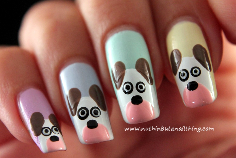 nuthin' but a nail thing: Dog Nail Art Tutorial