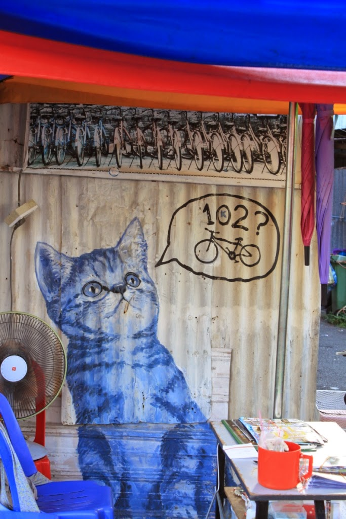 Penang street art - 102nd cat