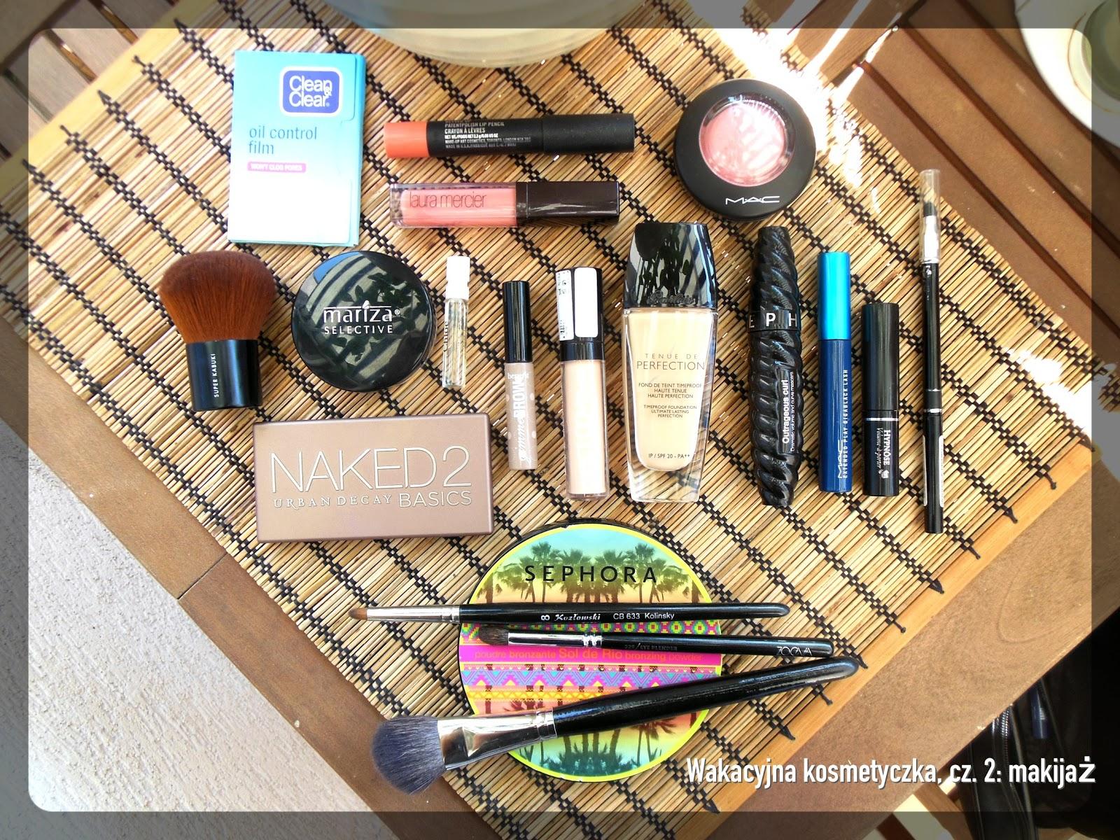 Moja wakacyjna kosmetyczka, cz. 2: makijaż
