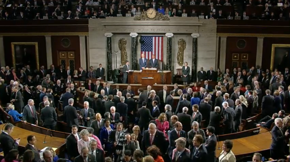 President Barack Obama late by 5 minutes to State of the Union 2015