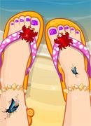 Летние пляжные сандалии - Онлайн игра для девочек