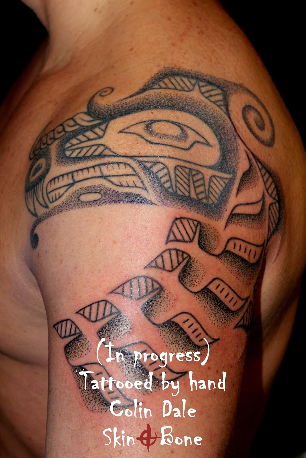 Skin bone artistic process haida tattooing