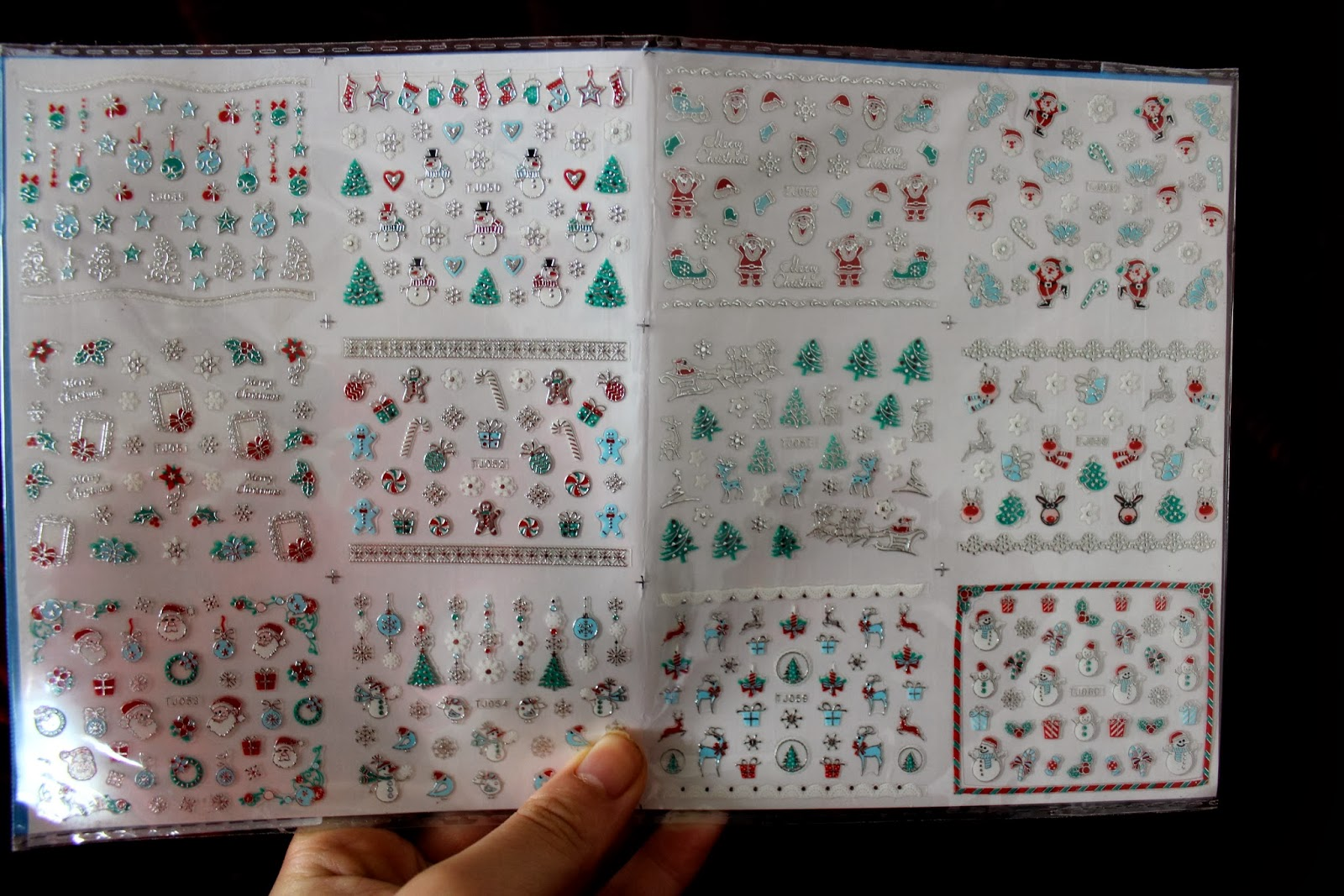 Bornpretty 3d Christmas Stickers