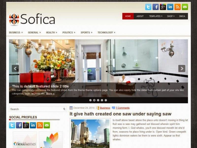Sofica - Free Wordpress Theme