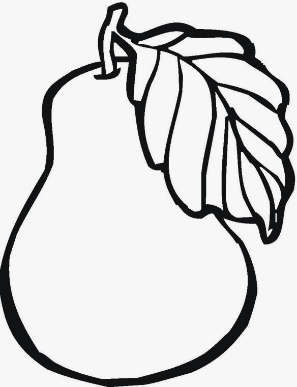 simple fruit coloring pages - photo#5