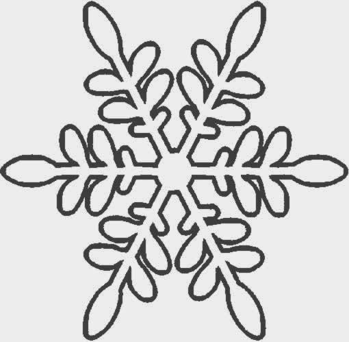 BAÚL DE NAVIDAD: Copos de nieve para colorear y recortar