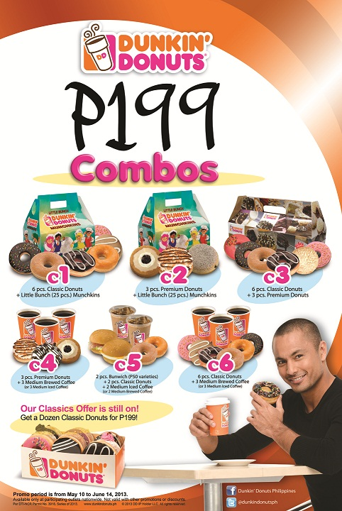 Dunkin Donuts P199 Promo