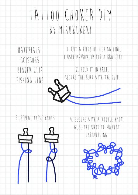 Как сделать чокеры поэтапно