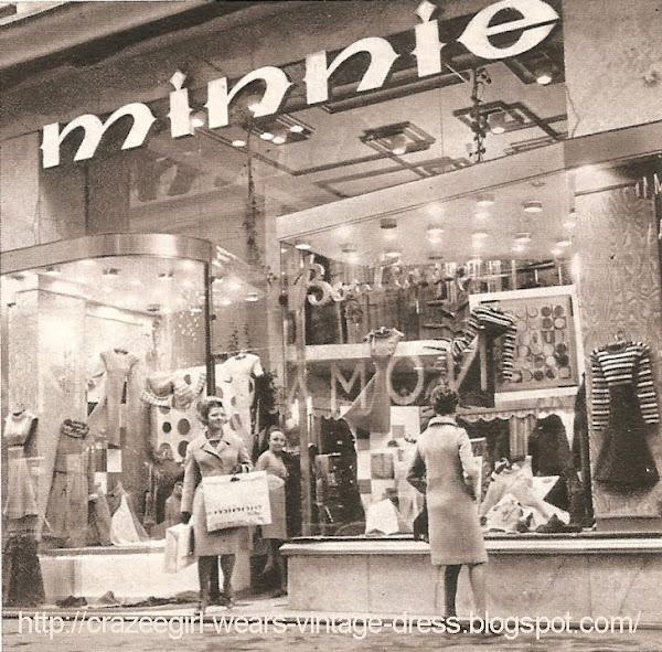 Minnie Boutique - 22 rue de Brest à Lyon en 1967 60s 1960 shop fashion mode mod sixties magasin