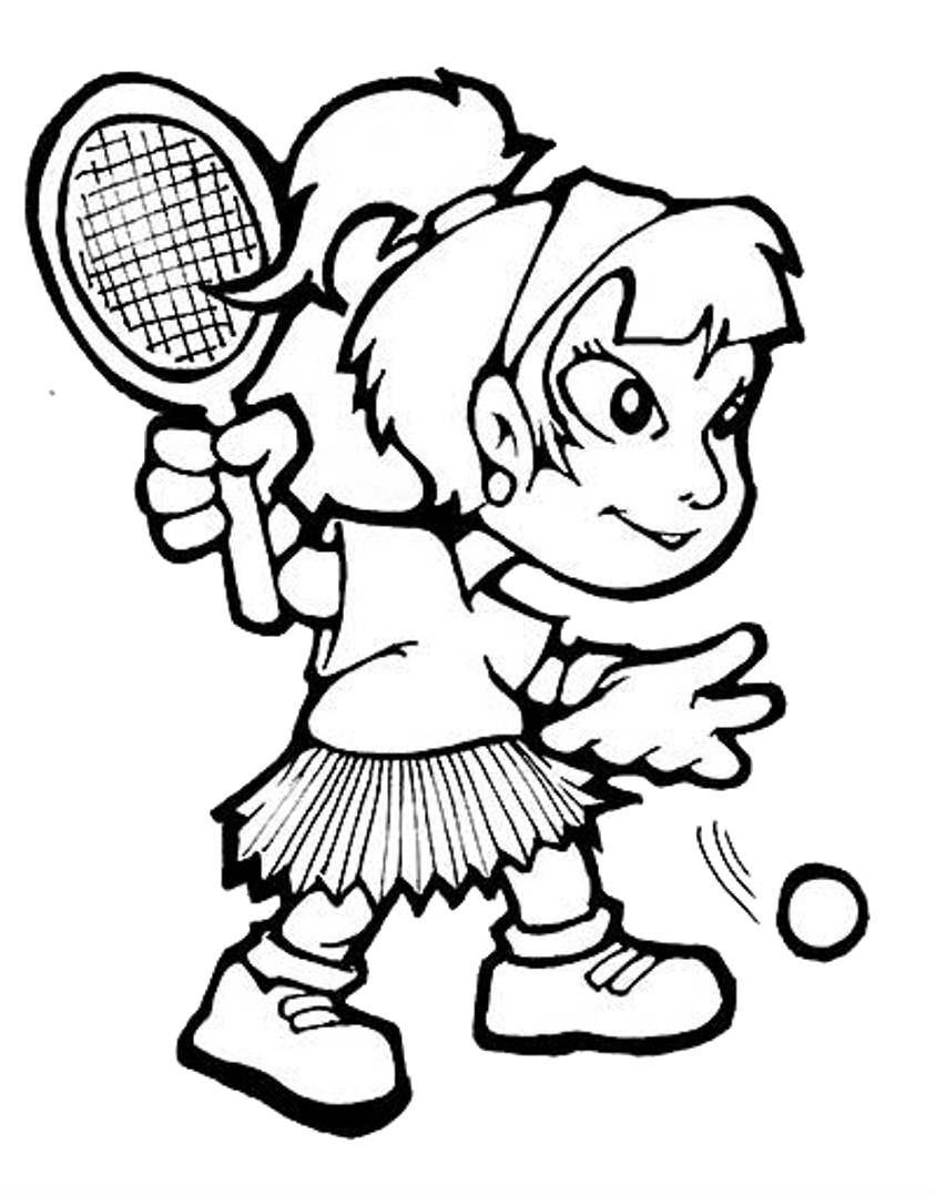 sports coloring pages for girls - photo#14