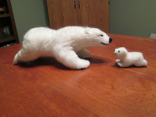 pose-able needle felted animal