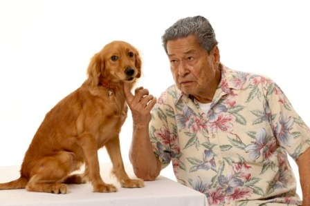 Eddie Garcia and the dog wonder Princess in Bwakaw