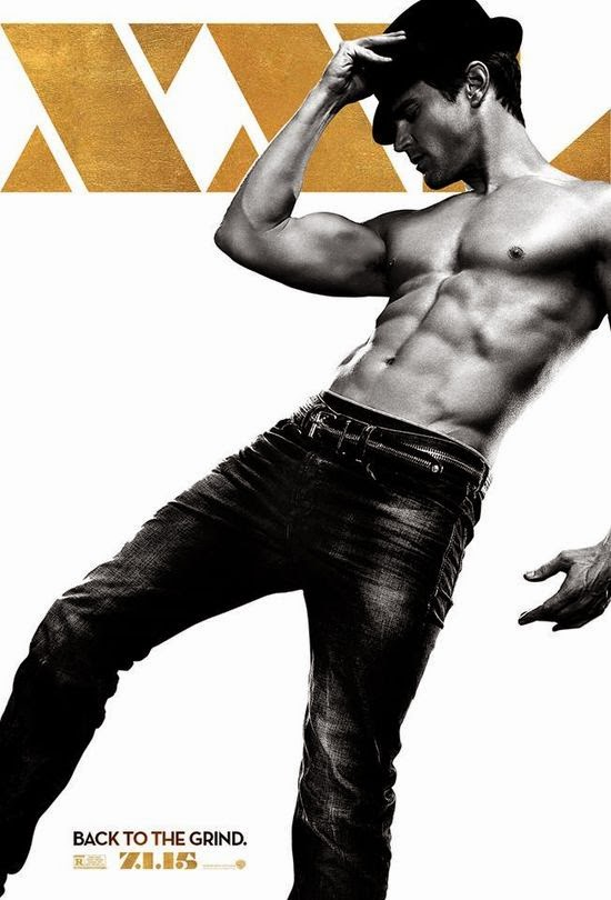 Matt Bomer shirtless for his personal poster for Magic Mike XXL