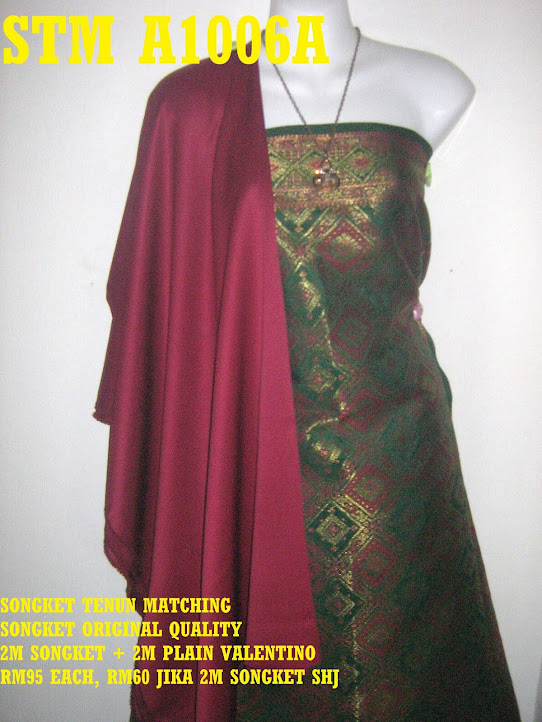 STM A1006A: SONGKET TENUN MATCHING, HIGH QUALITY, 2M SONGKET + 2M PLAIN