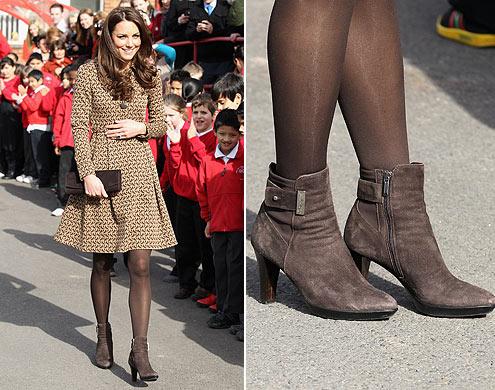 moda estilo corte costura sapatos sandálias peep toe ankle boot como usar dicas princesa kate middleton
